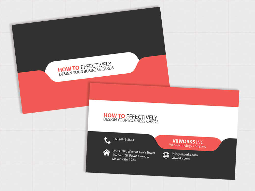 How To Effectively Design Your Business Cards