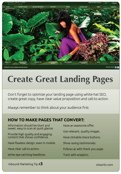 Create Great Landing Pages