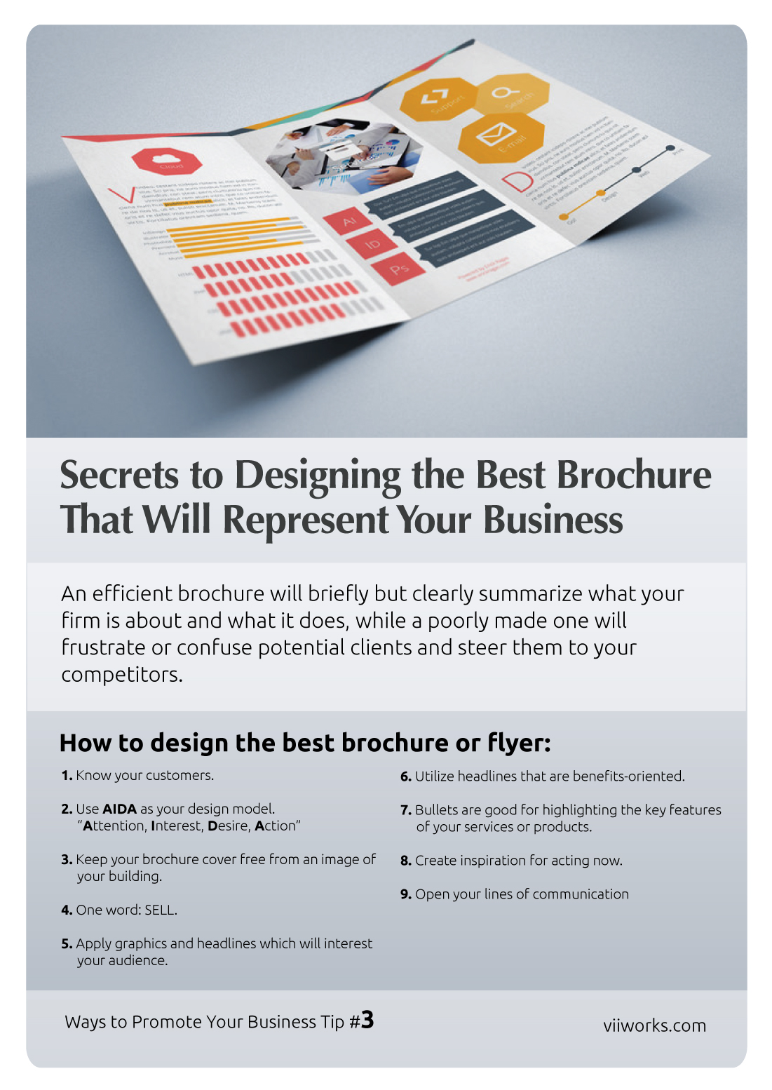 Card - Secrets to Designing the Best Brochure That Will Represent Your Business